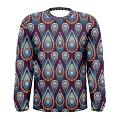 Seamless Pattern Pattern Men s Long Sleeve Tee