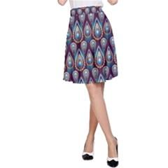 Seamless Pattern Pattern A Line Skirt