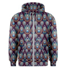Seamless Pattern Pattern Men s Zipper Hoodie