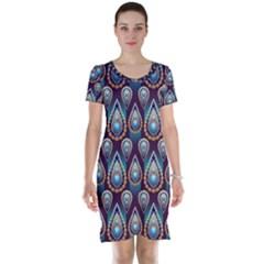 Seamless Pattern Pattern Short Sleeve Nightdress