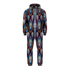 Seamless Pattern Pattern Hooded Jumpsuit (kids)