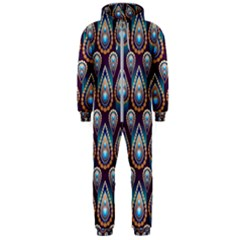 Seamless Pattern Pattern Hooded Jumpsuit (men)