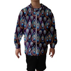 Seamless Pattern Pattern Hooded Wind Breaker (kids)