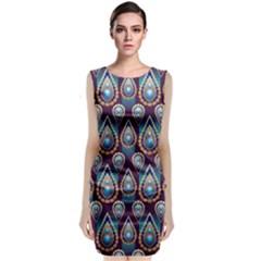 Seamless Pattern Pattern Classic Sleeveless Midi Dress