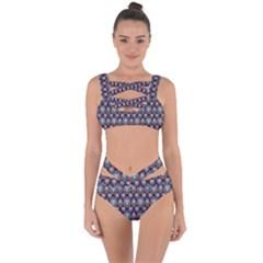 Seamless Pattern Pattern Bandaged Up Bikini Set