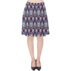 Seamless Pattern Pattern Velvet High Waist Skirt