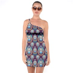 Seamless Pattern Pattern One Soulder Bodycon Dress