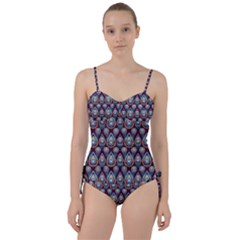 Seamless Pattern Pattern Sweetheart Tankini Set