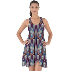 Seamless Pattern Pattern Show Some Back Chiffon Dress