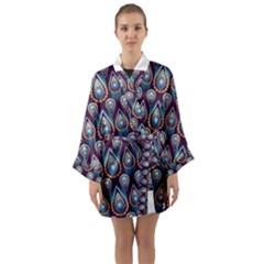 Seamless Pattern Pattern Long Sleeve Kimono Robe