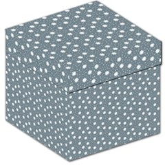 Floral Dots Blue Storage Stool 12