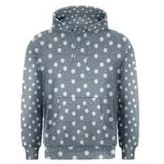 Floral Dots Blue Men s Pullover Hoodie