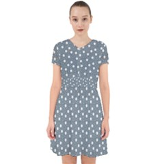 Floral Dots Blue Adorable In Chiffon Dress