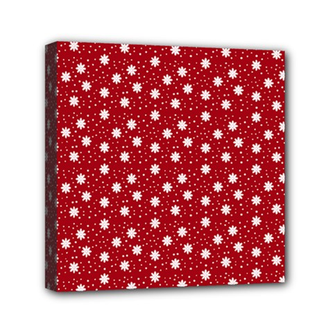 Floral Dots Red Canvas Travel Bag