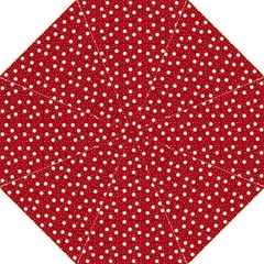 Floral Dots Red Straight Umbrellas