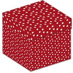 Floral Dots Red Storage Stool 12
