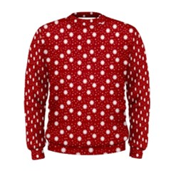 Floral Dots Red Men s Sweatshirt