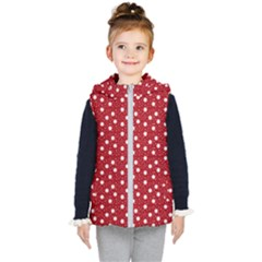 Floral Dots Red Kid s Puffer Vest