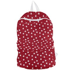 Floral Dots Red Foldable Lightweight Backpack