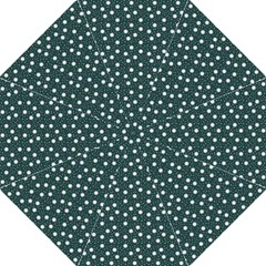 Floral Dots Teal Straight Umbrellas