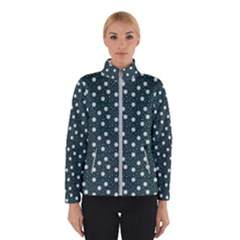 Floral Dots Teal Winterwear