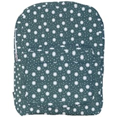 Floral Dots Teal Full Print Backpack
