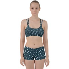 Floral Dots Teal Women s Sports Set