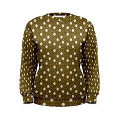Floral Dots Brown Women s Sweatshirt