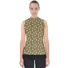 Floral Dots Brown Shell Top