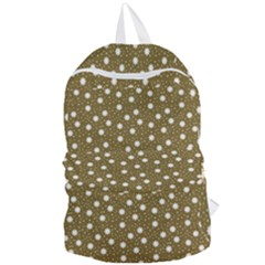 Floral Dots Brown Foldable Lightweight Backpack