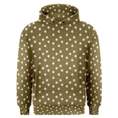 Floral Dots Brown Men s Overhead Hoodie