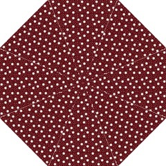 Floral Dots Maroon Golf Umbrellas