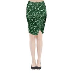 Dinosaurs Green Midi Wrap Pencil Skirt