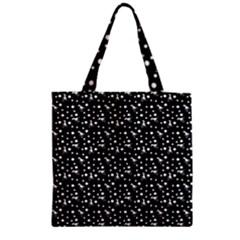 Dinosaurs Black Zipper Grocery Tote Bag