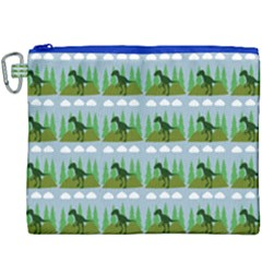 Dino In The Mountains Blue Canvas Cosmetic Bag (xxxl)