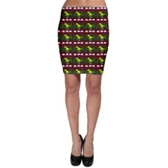 Dino In The Mountains Red Bodycon Skirt