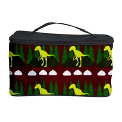 Dino In The Mountains Red Cosmetic Storage Case
