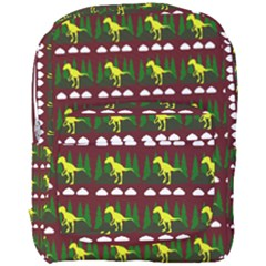 Dino In The Mountains Red Full Print Backpack