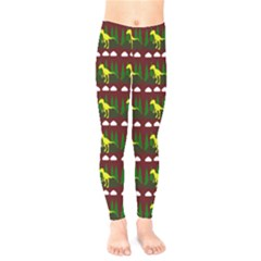 Dino In The Mountains Red Kids  Legging
