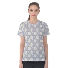 Daisy Dots Grey Women s Cotton Tee
