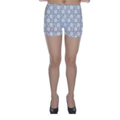 Daisy Dots Grey Skinny Shorts