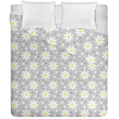 Daisy Dots Grey Duvet Cover Double Side (california King Size)