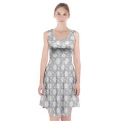 Daisy Dots Grey Racerback Midi Dress