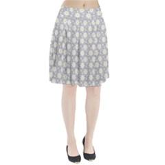 Daisy Dots Grey Pleated Skirt