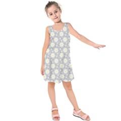 Daisy Dots Grey Kids  Sleeveless Dress