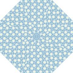 Daisy Dots Light Blue Straight Umbrellas