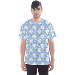 Daisy Dots Light Blue Men s Sports Mesh Tee