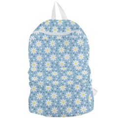 Daisy Dots Light Blue Foldable Lightweight Backpack