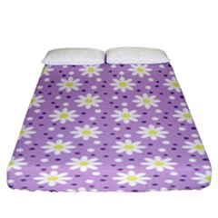 Daisy Dots Lilac Fitted Sheet (king Size)