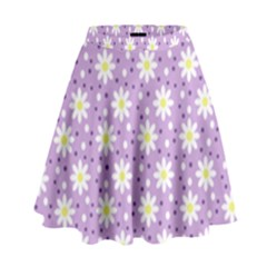 Daisy Dots Lilac High Waist Skirt